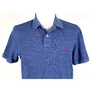 Ralph Lauren Heather Pique Polo Shirt Blue A5-07